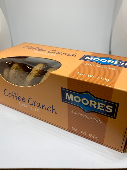 Moores Coffee Crunch Biscuits 150g