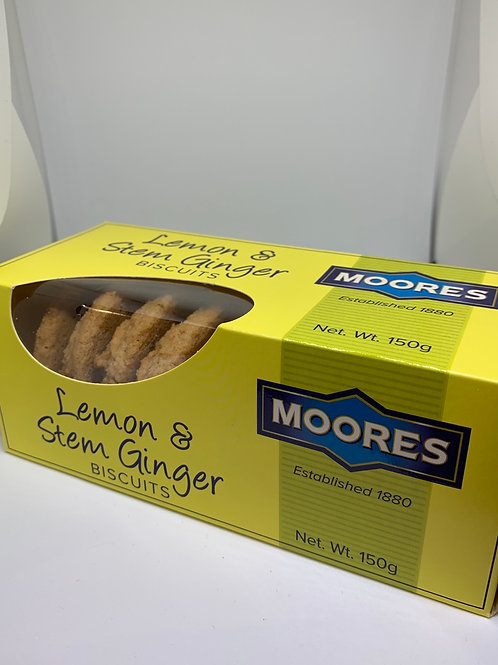 Moores Lemon & Stem Ginger Biscuits 150g