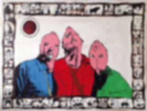 Pieta BMF, tech mixte, 120 x 150 cm, 201