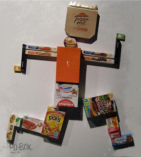 Ro-box2, 120 x 160 cm, tech mixte, 2009.