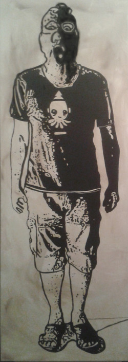 Monument Man 01 in Black & White