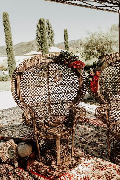 Les fauteuils Emmanuelle - Finition rotin naturel