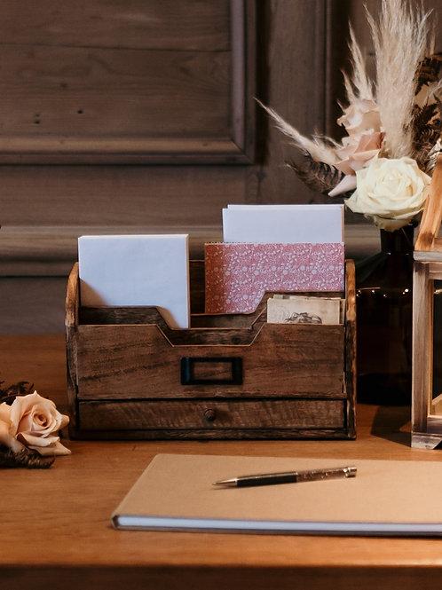 Le range-courrier en bois
