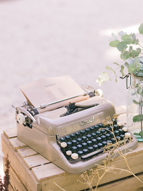 La machine à écrire vintage kaki