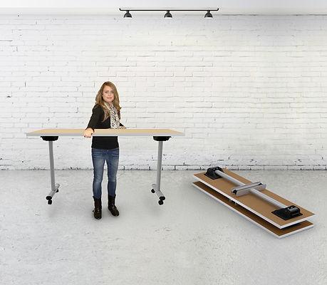 CallieHoldingGreenlitesTableWith RoomBac