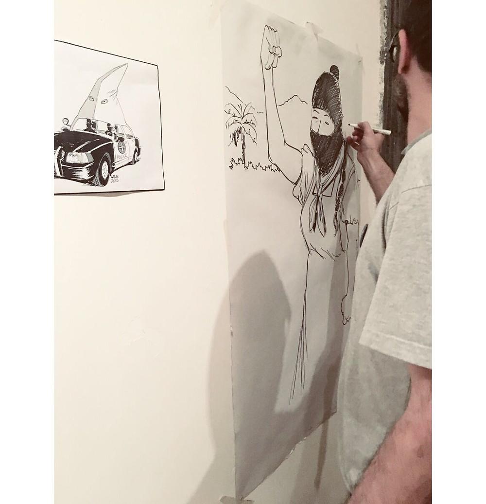 Zetaesse. SARA DE CARLO e CLELIA PINTO. L'ex Asilo Filangieri di Napoli ha ospitato una mostra di vignette satiriche di Carlos Latuff. Ecco la nostra intervista
