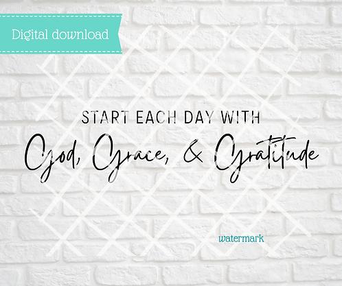 Start Each Day Digital Download