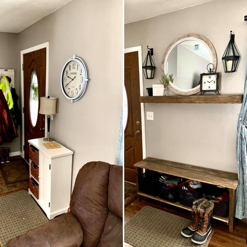 Entryway Before/After