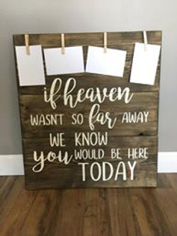 """""""If heaven wasn't so far away"""" board"""