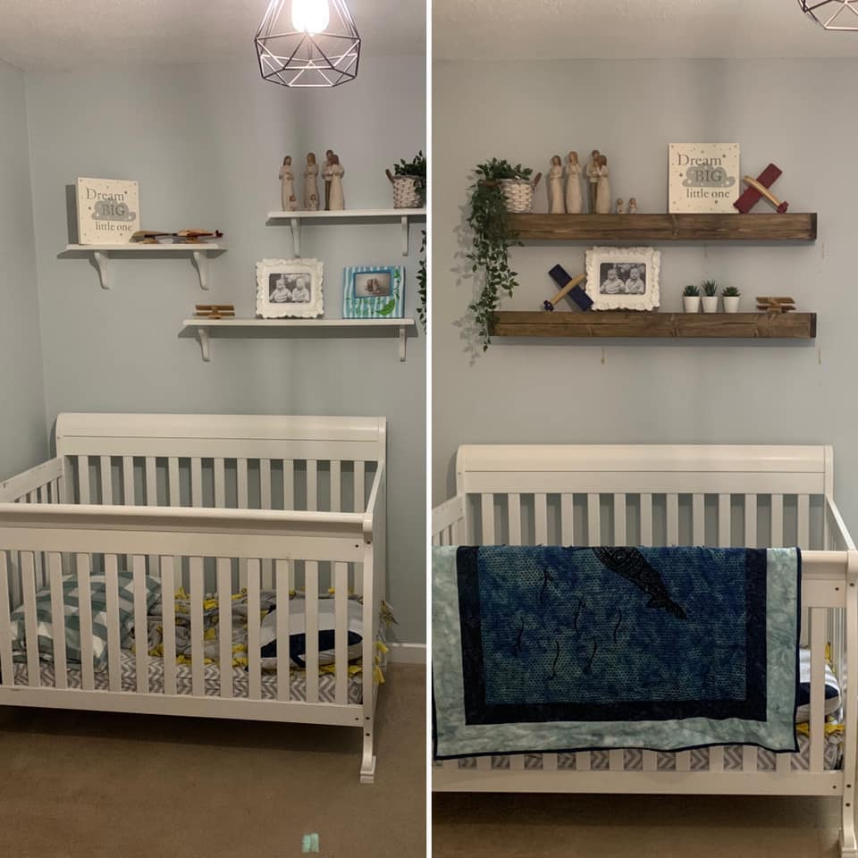 Bedroom Wall Before/After