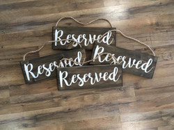 4 Reserved Signs