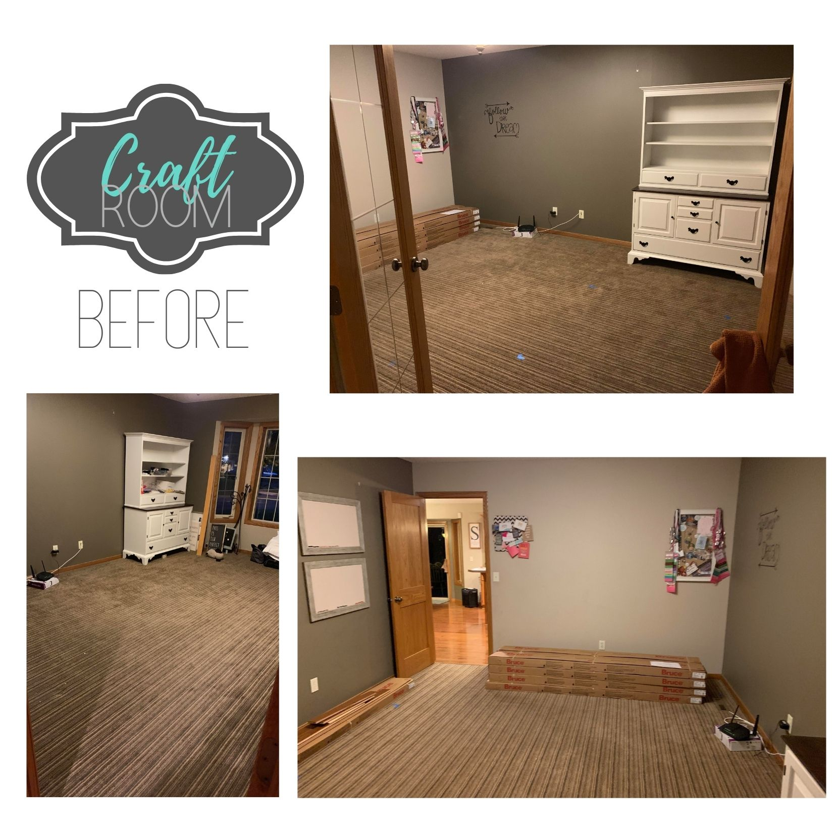 Office turned into Craft Room Before Pics