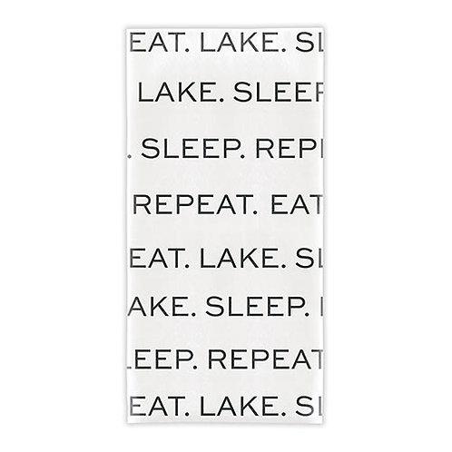 Tea Towel - Eat. Lake. Sleep. Repeat