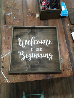 Welcome our beginning