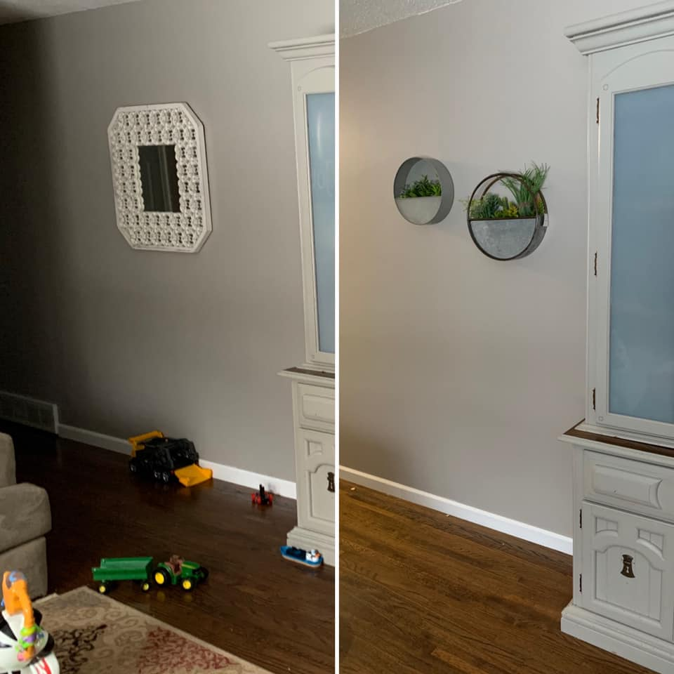 Wall Decor Before/After