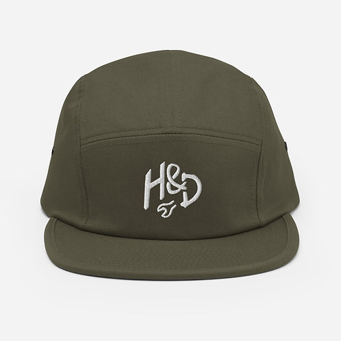 Embroidered Five Panel Cap