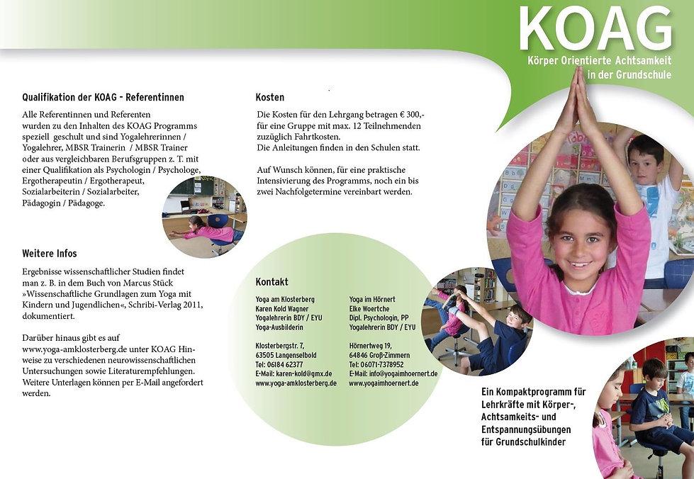 KOAG Körperorientierte Achtsamkeit in der Grundschule