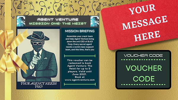Agent Venture_ The Heist- Gift Voucher f