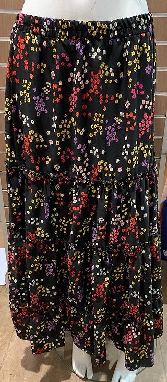 Plus Size Long Floral Skirt