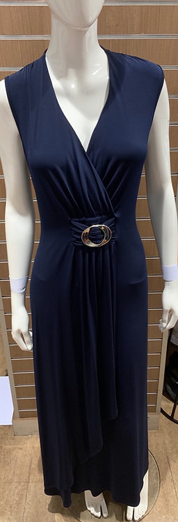 Long Sleeveless Dress With Ring Detail