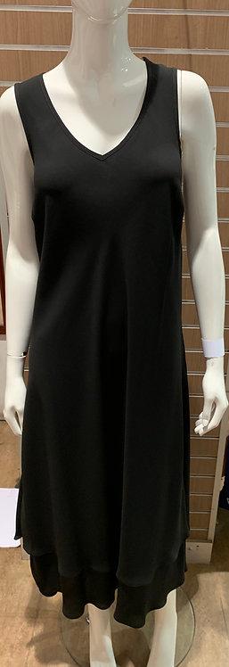 Plus Size 2-layers V-neck Chiffon Dress