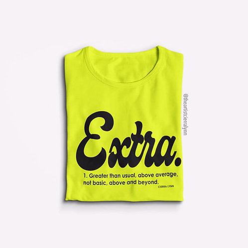 BOLD YELLOW EXTRA UNISEX FIT TEE