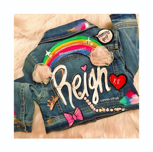 Reign :Toddler Custom name with patches  #1