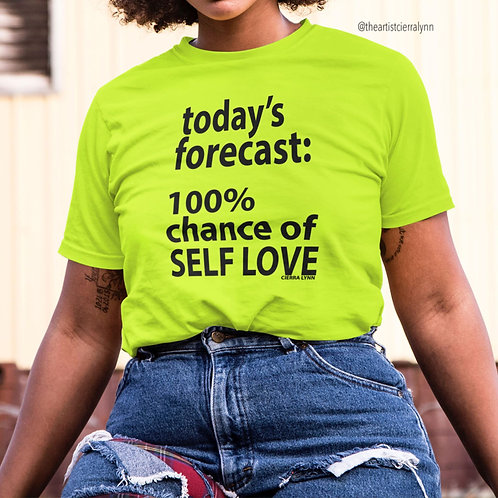 YELLOW TODAY'S FORECAST UNISEX  FIT TEE