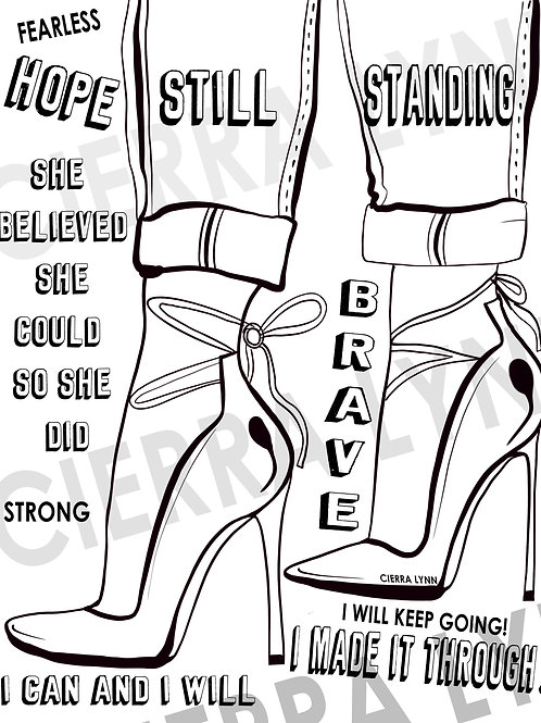 COLORING PAGE- STILL STANDING