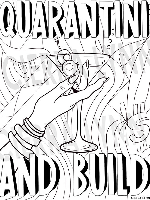 MOOD  COLORING PAGE- QUARANTINI AND BUILD