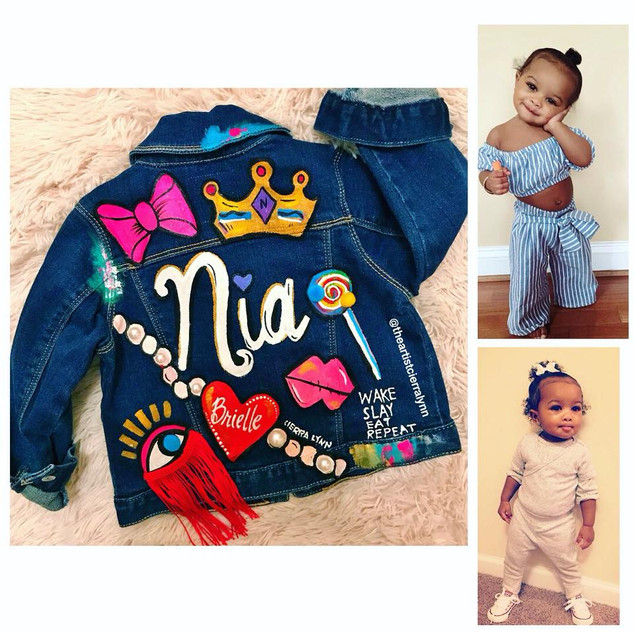 Nia: Toddler Name and patch example #2