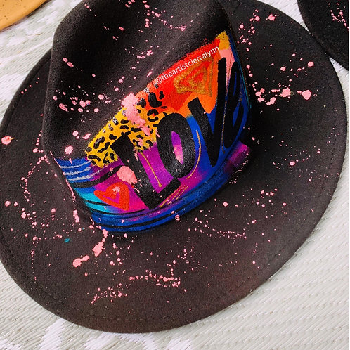 LOVE- One Of A Kind Fedora Hat