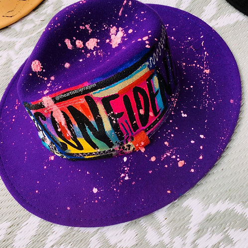 CONFIDENT- One Of A Kind Fedora Hat