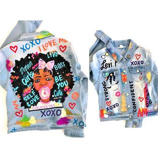 Afro Girl Denim jacket #1