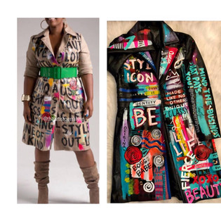 Custom Painted Coat
