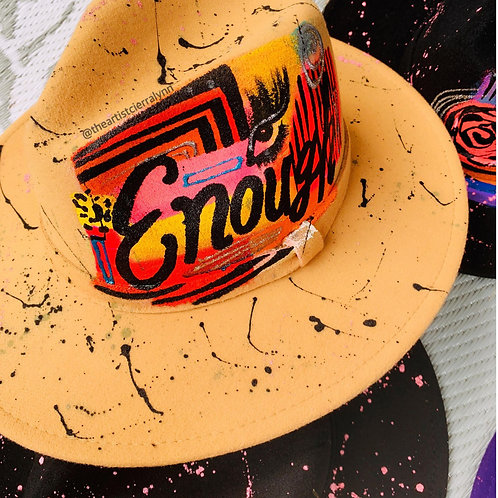 ENOUGH - One Of A Kind Fedora Hat
