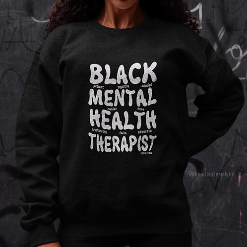 BLACK MENTAL HEALTH THERAPIST  (UNISEX/ OVERSIZED FIT)