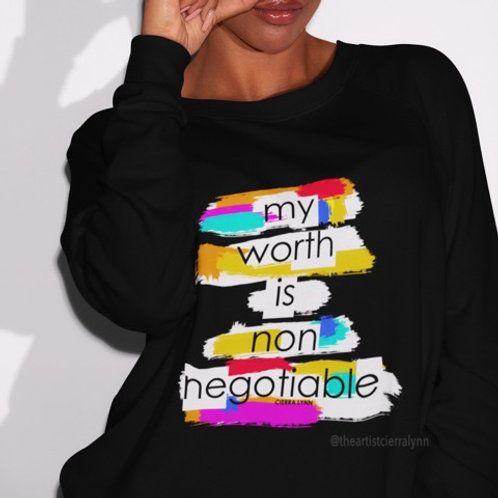 MY WORTH IS  (UNISEX/ OVERSIZED FIT) SWEATSHIRT
