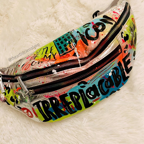 OVERSIZED  IRREPLACABLE  HAND PAINTED FANNY PACK