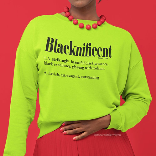 NEON BLACKNIFICENT  (UNISEX/ OVERSIZED FIT)