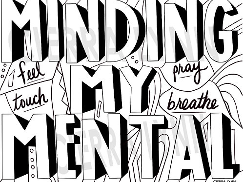 MOOD  COLORING PAGE- MINDING MY MENTAL