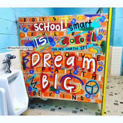 Dream Big Graffiti Bathroom Panel
