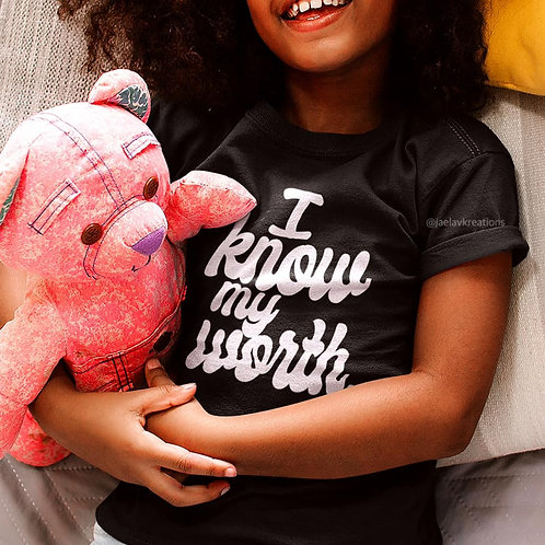 YOUTH I KNOW MY WORTH TEE - BY JAELA V.