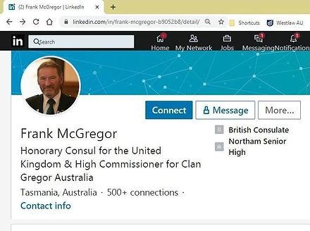 Frank McGregor Honorary Consul United Ki