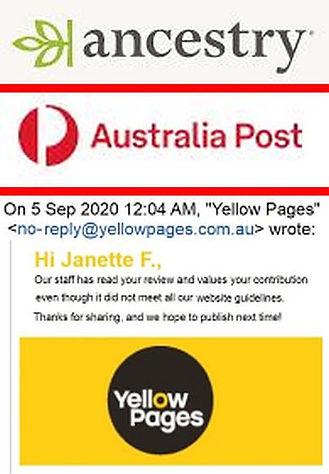 Crime -Ancestry DNA -Australia Post -Yel
