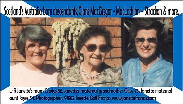 Card 1982 Mum 56 Nana 75 Aunt Joyce 54 J