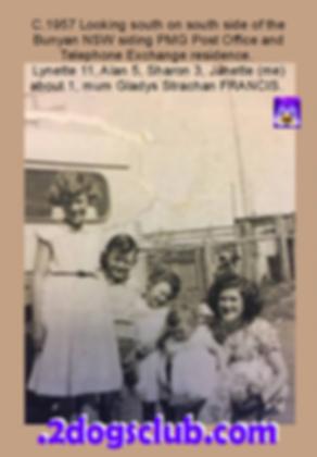 1957 Lynette, Alan, Sharon baby Janette,