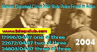 Card 2004 Masonic Organised Crime NSW Fr