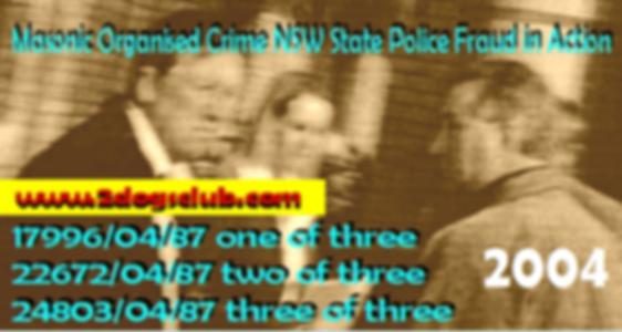 Card 2004 Masonic Organised Crime NSW Fr
