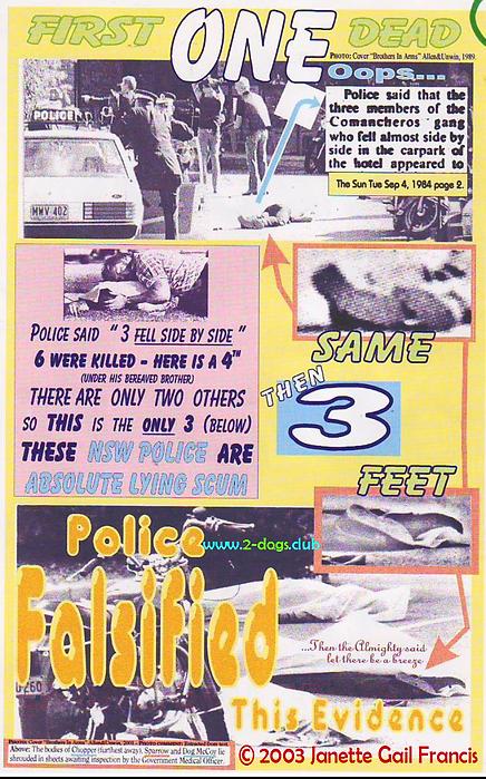 Card 2003 Sydney Australia Police Falsif